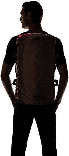 North Face Base Camp Duffel Backpack – Brown/Brunette Brown Catalog Print, One Size/Large