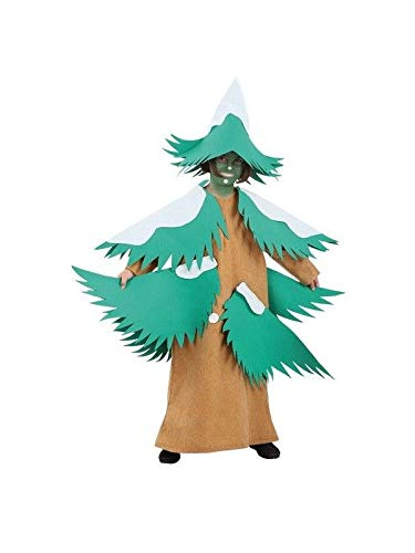 DISBACANAL Disfraz árbol de Navidad - Único, 4 años