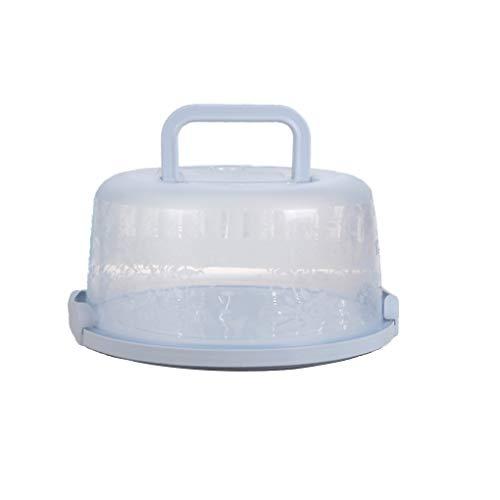 Chowcencen Kunststoff-Runde Kuchen Box Tragegriff Pastry-Speicher-Halter Dessert Container Abdeckungs-Fall-Kuchen-Zubehör - Top Lebensmittel-lagerung-container
