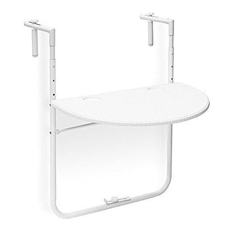 Table Hauteur Ajustable - Relaxdays Table de balcon pliante pliable appoint