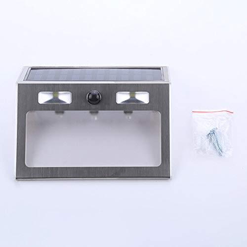 EIZUIDAZI Polysilicium-Hausnummer-Lampe Solar-Zeichen-Tür-Adressen-Plaketten-Stellen-Platte Schwarzes