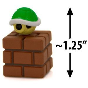 Furuta SUPER MARIO WII MINI FIGUREN KOOPA SHELL GREEN (3.2CM Mini Figure)