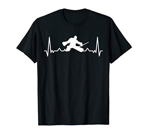 Herren Eishockey Herzlinie Herzschlag Torhüter Goalie Geschenkidee T-Shirt