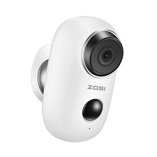 ZOSI PIR Caméra de Surveillance IP avec Batteries Rechargeables Audio Bidrectionnelle Interphone Vidéo Alarme Maison sans Fil 100%
