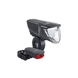 Büchel Vancouver Pro, 70 Lux, LED Akku-Leuchten-Set, StVZO zugelassen, automatische Lichtsteuerung, schwarz, 51227500