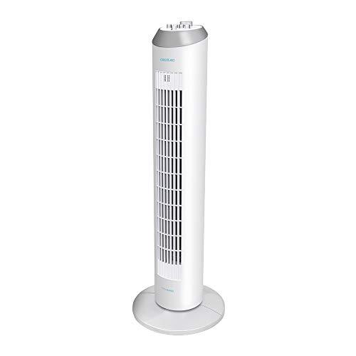 Cecotec Ventilador de Torre ForceSilence 8090 Skyline. 33'' 84cm de Altura, Oscilante, Motor de Cobre...