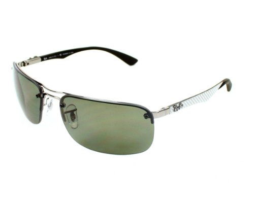 Ray Ban RB8307 Shiny Gunmetal / Polarized Green-63 63