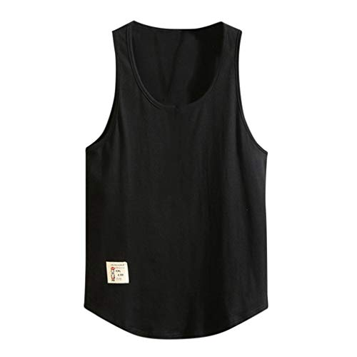 KUKICAT Débardeur Homme Coton T-Shirt sans Manches Maillot Tank Top Haute Débardeur Homme Dim Sexy Musculation Fitness Gym Gilet Été Casual pour Homme avec Encolure Rond Débardeurs 107% Coton Vest
