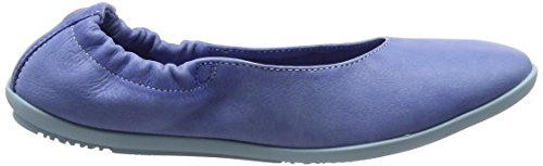 Softinos Damen Ona380sof Washed Geschlossene Ballerinas Blau (Lavender Blue)