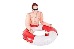 Smiffys 50885 - Anilla hinchable para salvavidas (unisex, talla única), color rojo y blanco