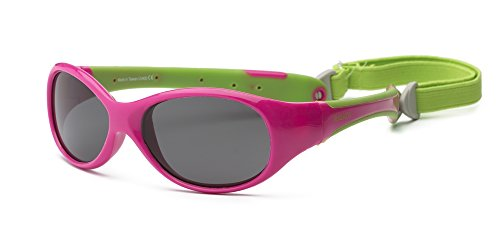 Real Kids 4BRECPLM Breeze Kindersonnenbrille, Flexible Passform, Größe 4+, kirschrot rosa/limettengrün