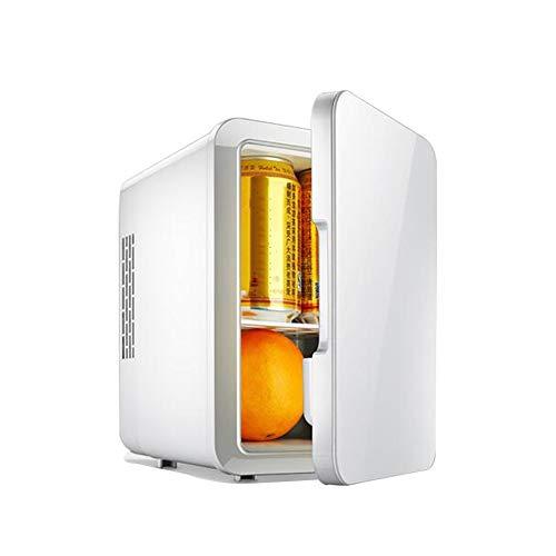 Mini-Kühlschränke Feifei 12 v Car Home Kleinen Schlafsaal Büro 5L Kühlung Heizung Shop Lebensmittel Kaltes Getränk Medikament Kosmetik - 2 Farbe (Color : White) (Camping-lebensmittel-heizung)
