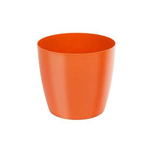 Classique luisant cache-pot LOBELIA, 16 cm, en orange