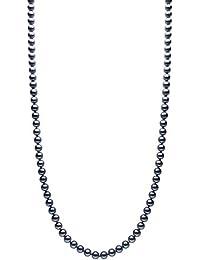 Kimura Perlen 18 Karat Gelbgold schwarze Süßwasser-Zuchtperlen Halskette in AA Qualität