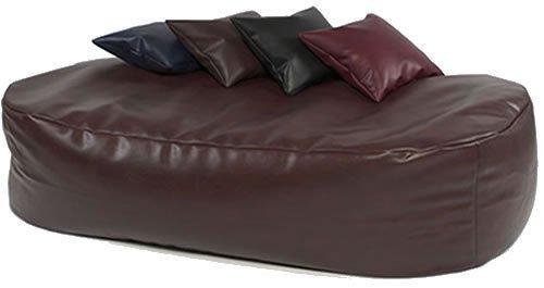 ... XXX-L HUGE 16cu FT BLACK FAUX LEATHER BEANBAG BED BEAN BAG SOFA BED ... - XXX-L HUGE 16cu FT BLACK FAUX LEATHER BEANBAG BED BEAN BAG SOFA