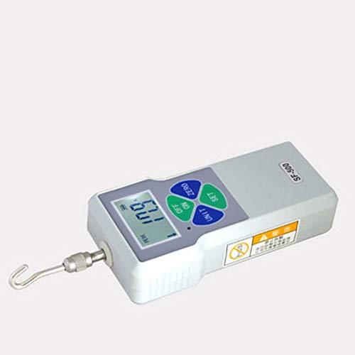 Modelo: SF-500. Carga máxima: 500 N / 50 kg / 110 lb. Valor de división de carga: 0,1 N / 0,01 kg / 0,01 lb. Estructura del sensor: interior. Precisión: ± 0,5%. Alimentación: batería de litio de 3,7 V. Tiempo de carga: 4 a 6 horas. Tiempo de uso de l...