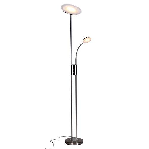 Wohnling LED Deckenfluter mit Leselampe rund (EEK: A)