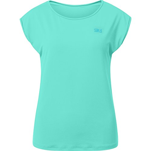 Sportkind Mädchen & Damen Tennis / Fitness / Sport Loose Fit T-Shirt, mint, Gr. 128