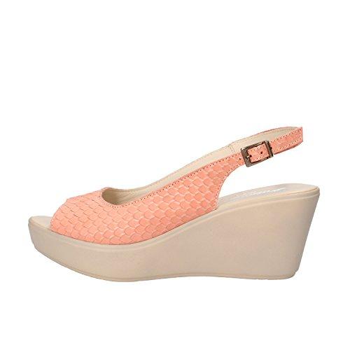 SUSIMODA sandali donna 37 EU rosa pelle pitonata AG965