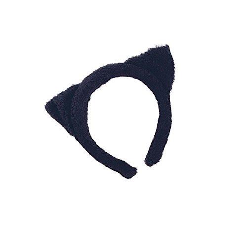 Cat Ears Black Fur costume Kids Fancy Dress