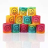 #4: Rainbow Smiley Face Magic Spring Fun Playing for Kids Set of 12 Pcs Birthday Return Gift
