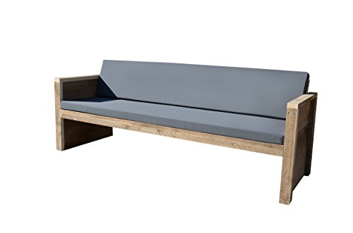 wood4you 7433637814857 Holz Lounge Sofa Basic mit Outdoor Kissen - Braun (6-teilig)
