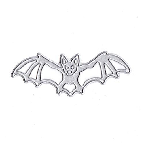 Mikiya Stanzformen Cutting Dies Halloween Fledermaus Metall Stanzformen Schablone DIY Scrapbooking Album Stempel Papier Karte Präge Handwerk Dekor