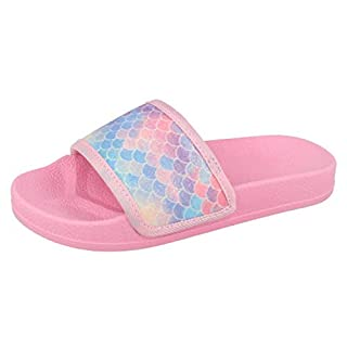 Lora Dora Girls Mermaid Iridescent Sliders Mermaid Glitter UK 12