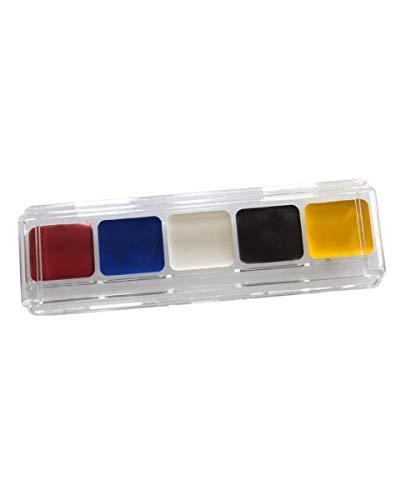 Horror-Shop Clown Make-up Palette als Halloween & Faschings Schminke - Clown Make-up-palette