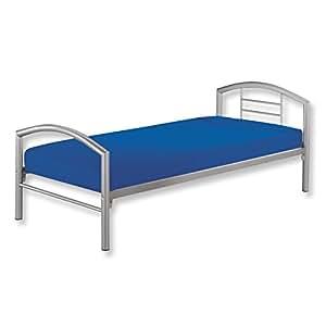 roller roller metallbett arena silber 90x200 cm silber k che haushalt. Black Bedroom Furniture Sets. Home Design Ideas