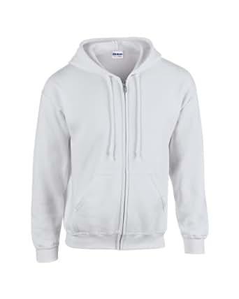 Gildan 18600 Heavy Blend Adults Full Zip Hoodie Hooded Sweatshirt Ash S