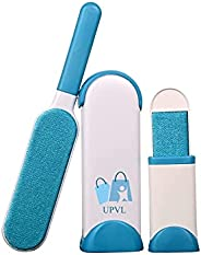 UPVL Pet Hair, Dust, Lint Remover Double Sided, Reusable Brush with Self-Cleaning Base for Clothing and Furnit