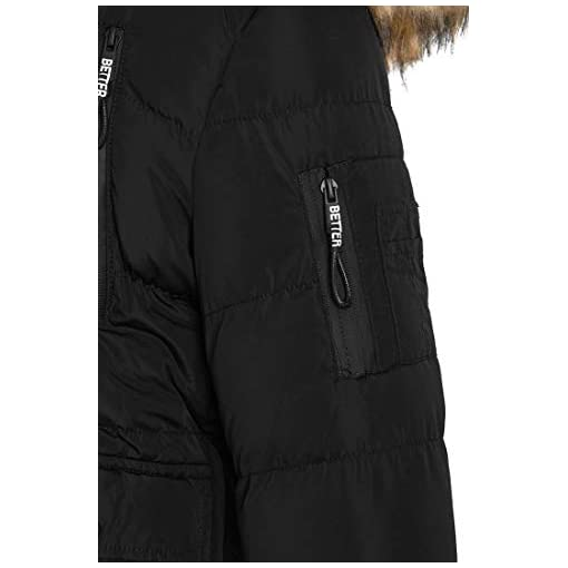 SS7 Boys Padded Parka Coat Ages 5 to 16 Years Jacket Faux Fur