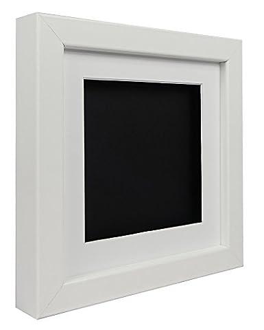 Vivarti TrueBox 3D Shadow Display Picture Frame 30 x 30cm - White Frame, White Mount, Black Backing Card