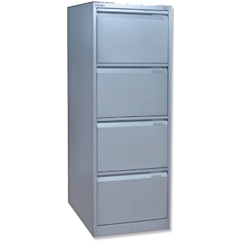 Bisley BS4E Filing Cabinet Flush Front 4 Drawer W470xD622xH1321mm Goose  Grey Ref BS4E