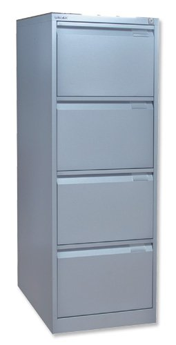 Bisley BS4E Filing Cabinet Flush-front 4-Drawer W470xD622xH1321mm Goose Grey Ref BS4E-73 on Line