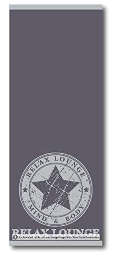 Bettwäscheträume lenzuola, telo sauna, 70 x 180 cm, asciugamano per sauna, 100% cotone, extra lungo, grigio, cotone, gelb, 70 x 180 cm