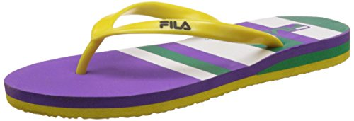 Fila Women's Daisy Flip Purple, White, Green and Yellow Slippers -7 UK/India (41 EU)  available at amazon for Rs.224