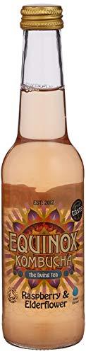 Equinox Kombucha Organic Raspberry and Elderflower Fizzy Drink 275 ml (Pack of 20)