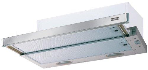 Franke FTC 912 XS Flachschirmhaube / Metall-Fettfilter spülmaschinengeeignet / Schiebeschalter Steuerung / 89,9 cm / edelstahl / hell grau