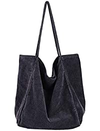 ad07416e2147b Howoo Damen Groß Cord Retro Schultertasche Beiläufig Handtasche Mode  Einkaufstasche