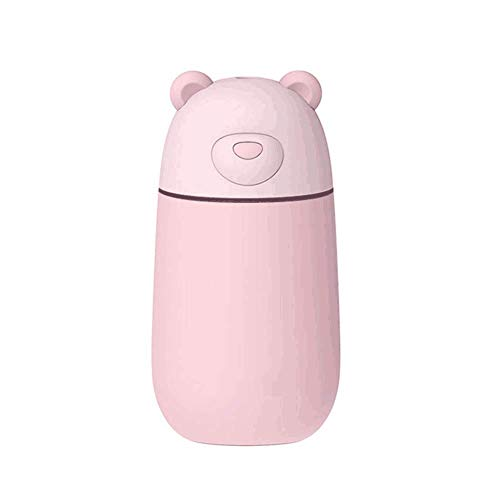 MMPY Mini Ultrasonic Cooling Mist Humidifier - Luftreiniger ohne Lärm USB Air Hydrating Sprayer Großraumbefeuchter for Haus, Büro, Yoga, Spa, Schlafzimmer, Büro, Auto (Color : Pink) -