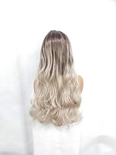 MA-WIGS Perücke Frauen volle Lange Perücke Blonde lockige Perücke Damen Haarteil natürliche lockige gewellte synthetische Perücken hitzebeständige Haar-Styling 65cm Jack Sparrow Make-up