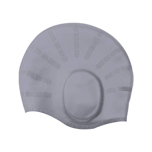 Badekappe für Herren und Damen, WQIANGHZI Hochwertige Silikon Bademütze,Lange Haare kurzes Haar Schwimmbaube, Stretch Wasserdichte Schnelltrocknend,mit ergonomischen Ohrentaschen zum Schutz