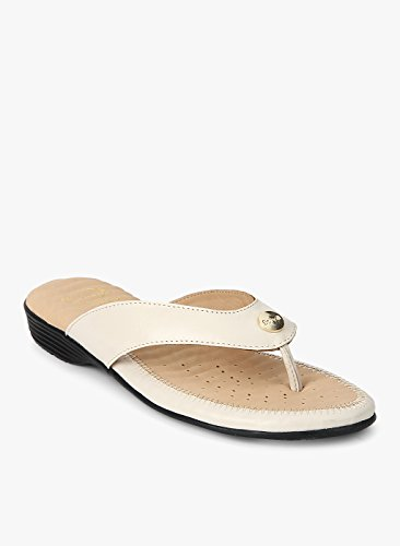 Dr Scholl Flat Trim Thong Beige Sandals  available at amazon for Rs.1599