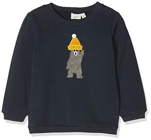 NAME IT Baby-Jungen Sweatshirt NBMSEBAMSE SWE O-Neck BRU Grau (Dark Sapphire) 62
