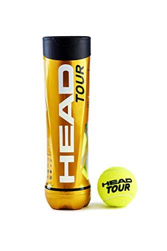 HEAD Uni Tour 4 Tube Tennis, Gelb, One - Head Tennisbälle Atp
