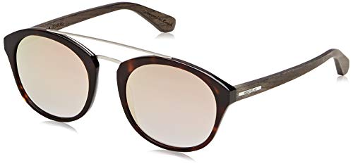 Wood Fellas Unisex-Erwachsene Sunglasses Basic Steinburg Sonnenbrille, rosé Mirror/Havana/Black Oak, 52