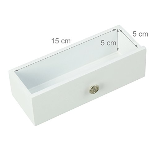 Relaxdays Schmuckschrank mit Spiegel, Spiegelschrank hängend für Ketten, Hängeschrank für Tür, HBT: 120x36,5x10 cm, weiß - 5