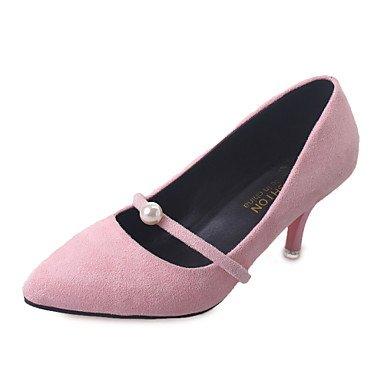 Talloni delle donne Primavera Estate Autunno Club similpelle Ufficio esterno e carriera Abito tacco a spillo Bowknot Nero Verde Rosa Walking Pink
